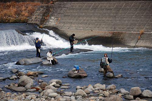 白田川マス釣り大会